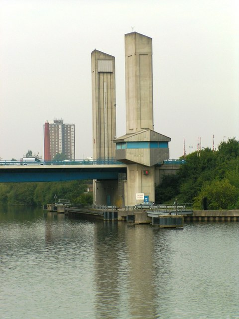 Centenary Road Bridge to Trafford Park from Manchester Ship Canal
