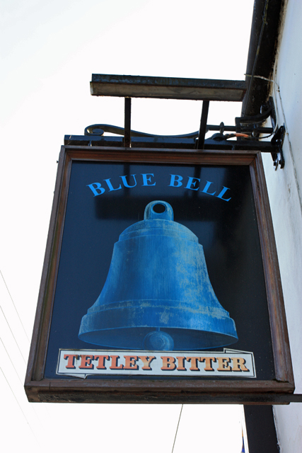 The Blue Bell - bell pub sign