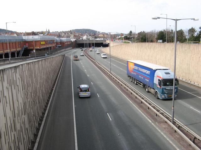 A55 Expressway in Colwyn Bay