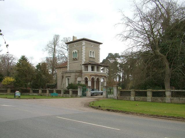 Southern gatehouse, Shrubland Hall