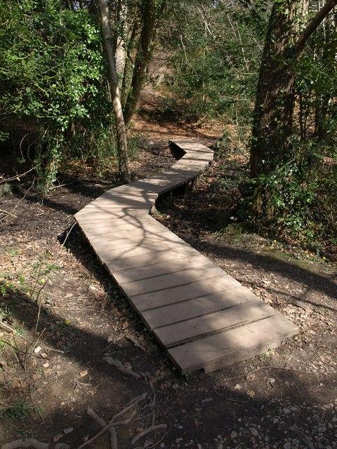 Duckboard walk, Parke