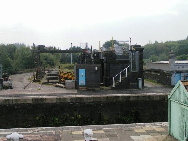 Sluices, Barton Locks, Manchester Ship Canal