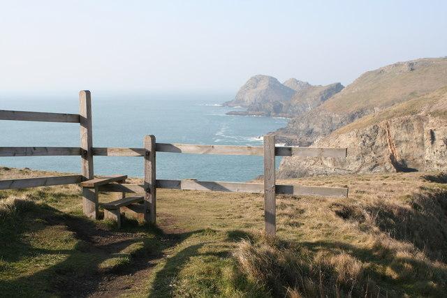A stile on the South West Coastal Path