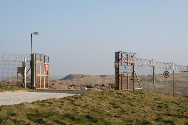 Entrance to Penhale Camp