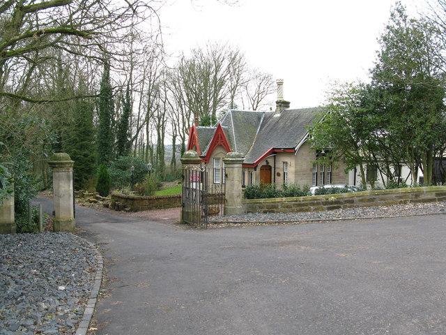 Lodge House near Mauldslie Mains