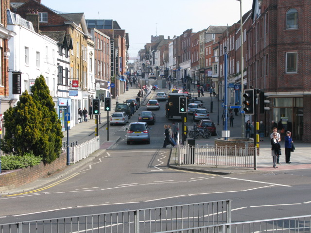 View along Guildford High Street