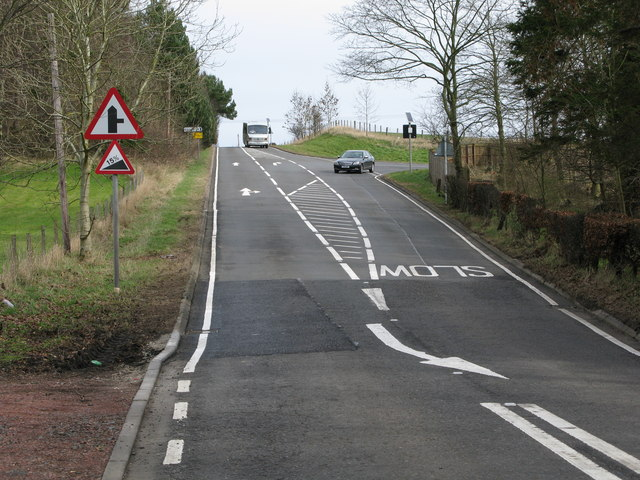 Road Junction on the B7011
