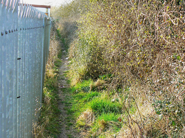 Footpath north of Wootton Bassett station site