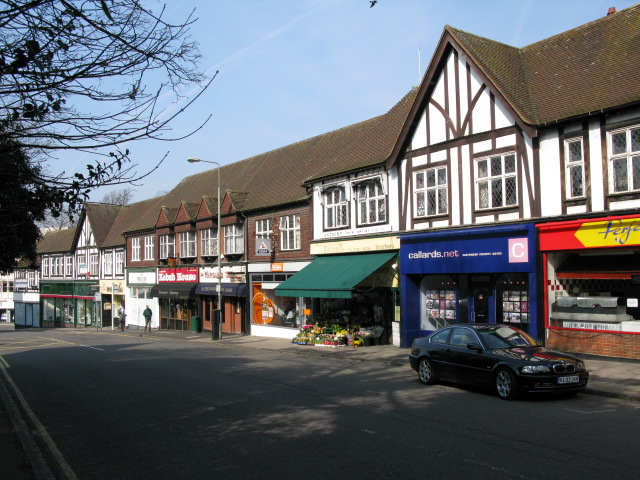 Row of shops on Epsom Road