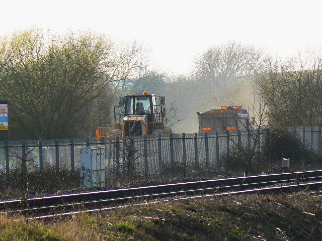 Aggregate Industries depot, south of Wootton Bassett station site