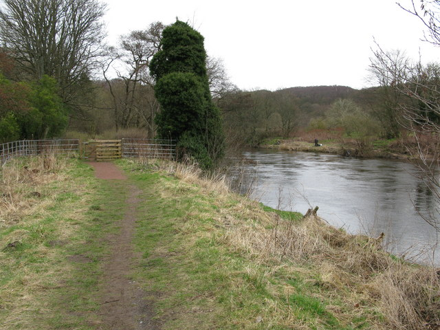 Clyde Walkway and River Clyde near Rosebank