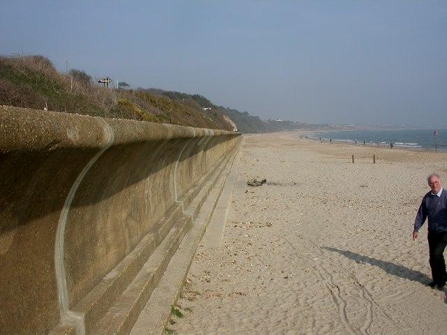 Friar's Cliff, sea wall