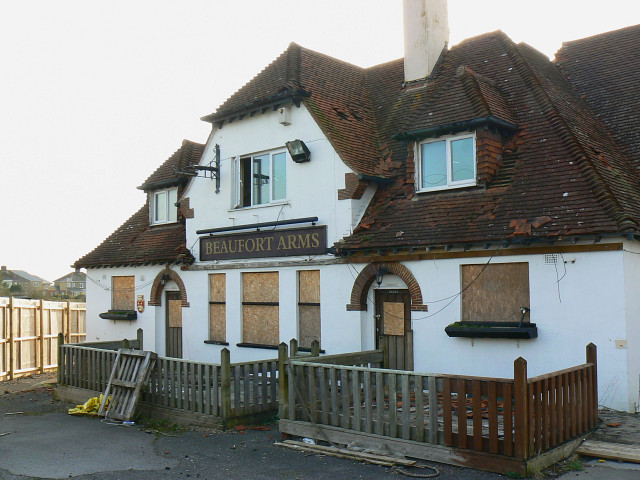 The front of the Beaufort Arms, Wootton Bassett