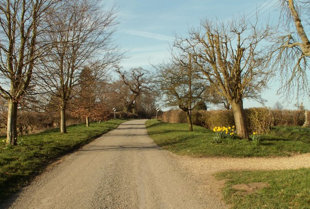 The road that leads to Dearsley's Farm