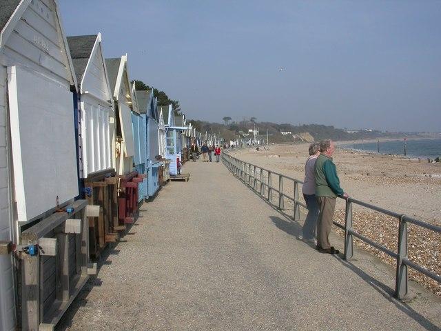 Friar's Cliff, beach huts