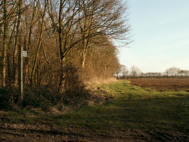 Public footpath from Cowlinge to Lambfair Green
