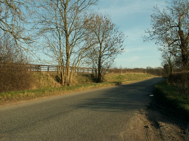 Part of Newmarket Road, just north of Cowlinge