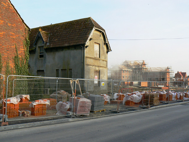 Old buildings and new, Station Road, Wootton Bassett