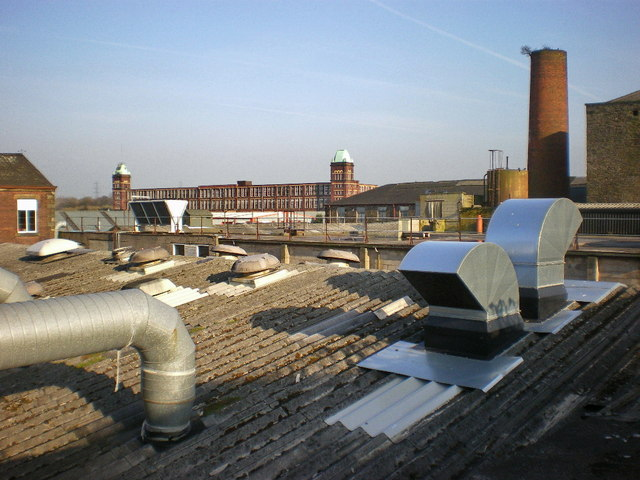 Roof scape of Burmah Mill