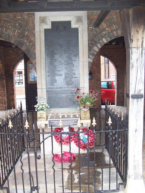 War Memorial Market House, Princes Risborough.