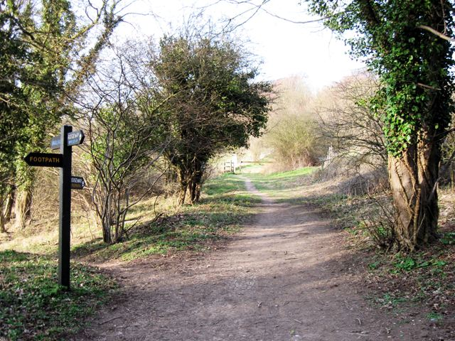 A junction on the Ridgeway Footpath in Aldbury