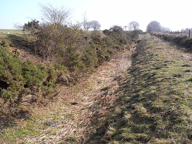 Roman ditch near Heavenfield