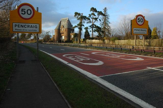 The A40 at Pencraig