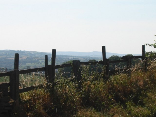 View from High Hoyland over to Pennines