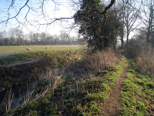 Footpath alongside River Rother