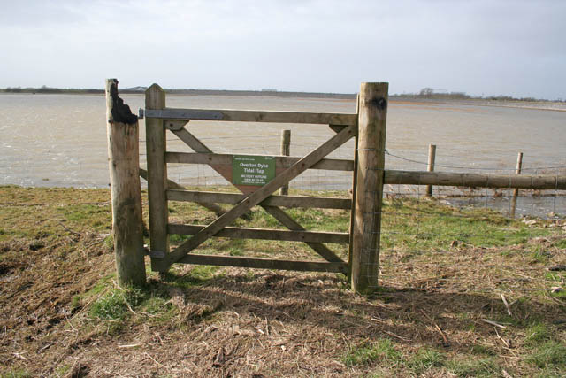 Gate on the flood defences at Overton