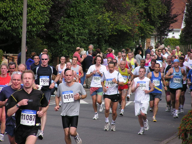 Nottingham Marathon 2004 in Parkside