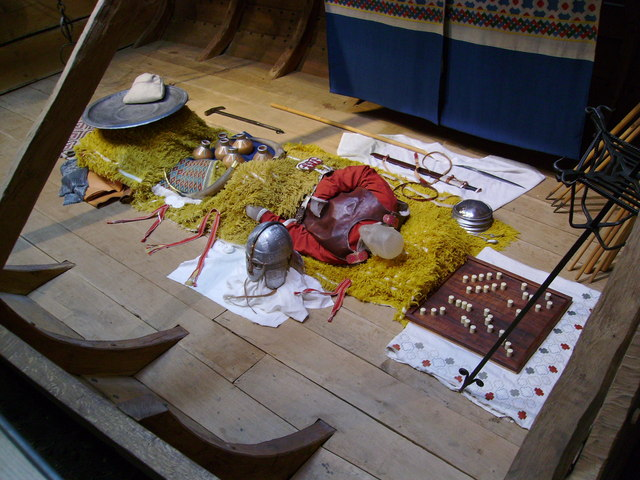 Sutton Hoo Exhibition Centre - Reconstructed Ship Burial.