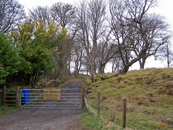 Access road to cottages