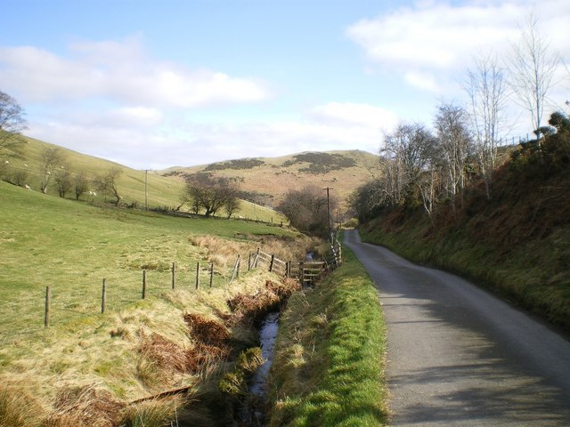 The valley of the Afon Gwrachen