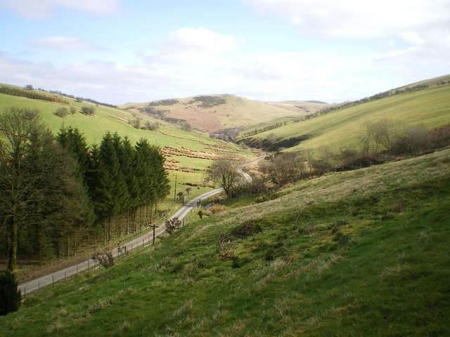 View down the valley of the Afon Gwrachen