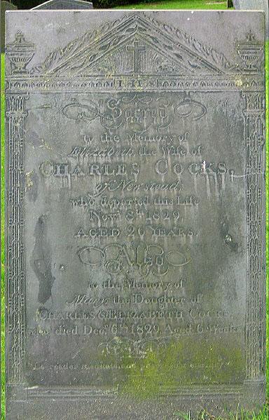 Slate gravestone