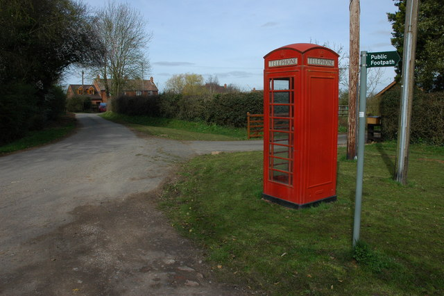 Telephone box in Hallwood Green