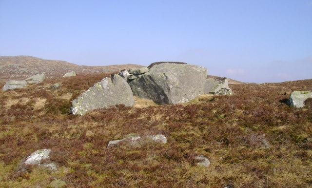 Boulders between Maol Breac and Beinn Damhain