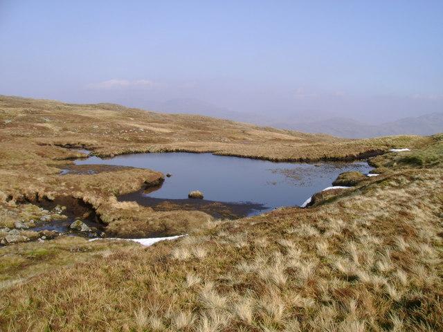 Small lochan south of Beinn Damhain