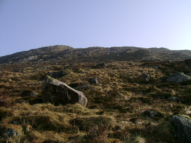 Northwestern slopes of Beinn Damhain