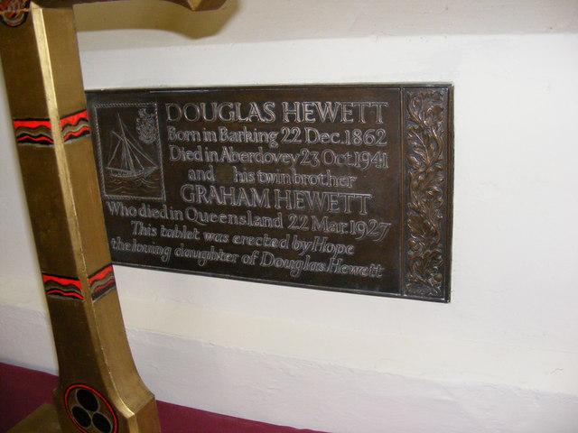 Hewett Plaque