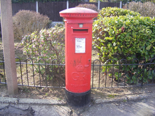 Sandringham Road George V Postbox in Beccles Drive