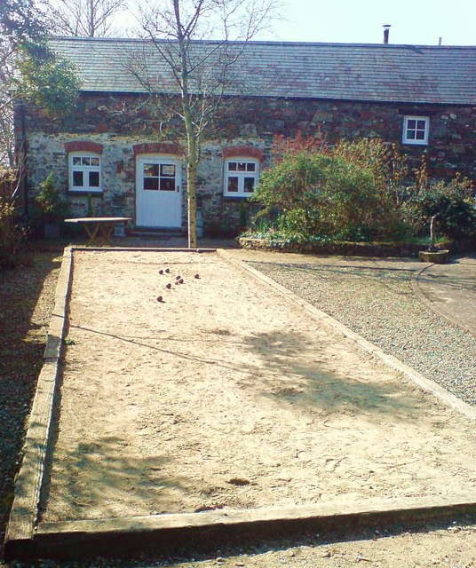 Boules at Hilton Court courtyard