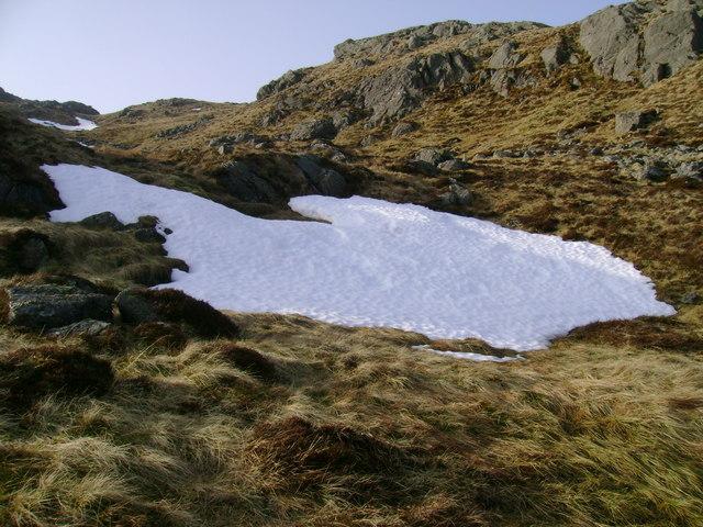 Snow patch on Meall an Fhudair
