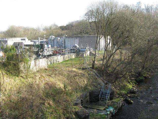 Sewage works near Esk Bridge