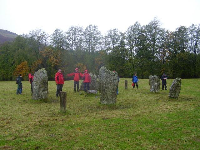 Stone circle near Kinnell house