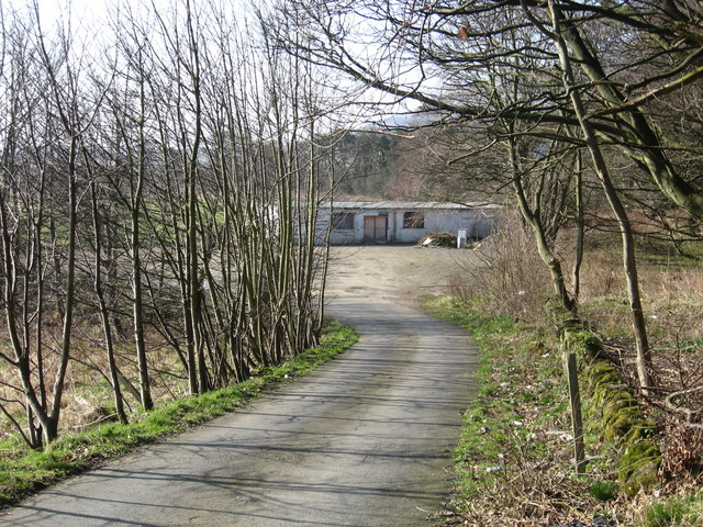The road to the gym and the old gym itself
