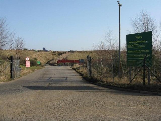 Entrance to Oatslie Land-fill Site