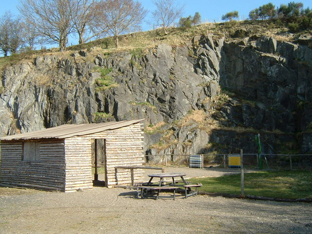 Outdoor pursuits area in disused quarry