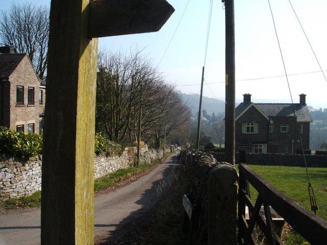 Lane from Dunlow Farm